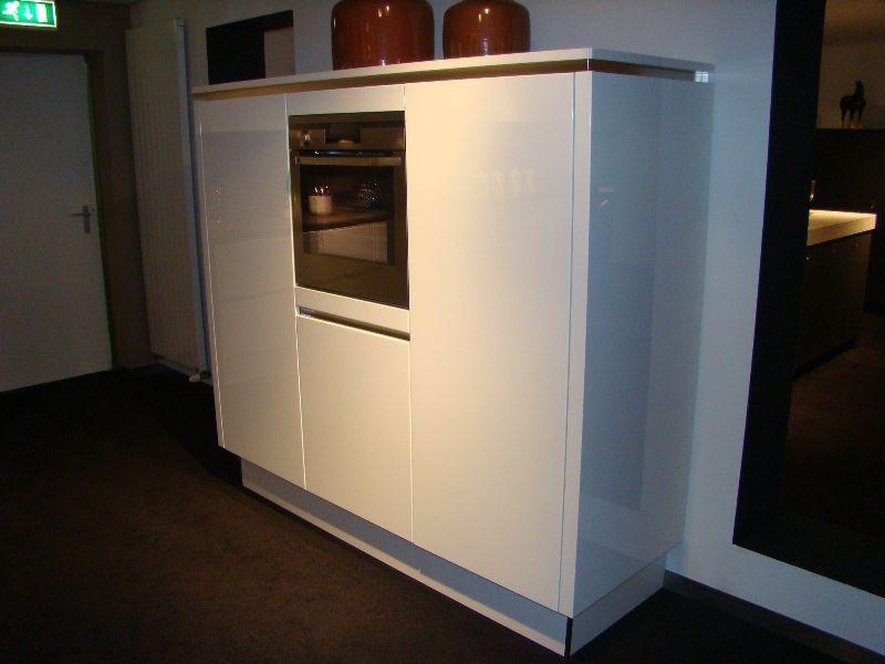 Keukenkast Wit Hoogglans : Keukenkast hoogglans wit os silverstaken