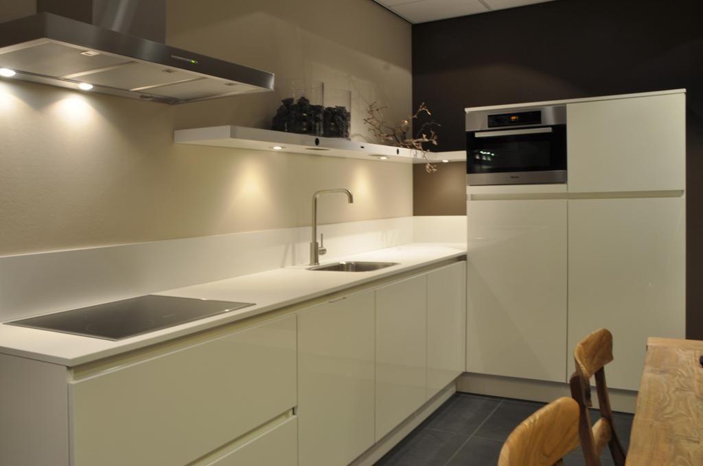 Keuken Greeploos Hoogglans Wit : keukensite van Nederland Hoekkeuken Hoogglans wit greeploos [48899