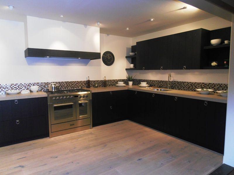 Keuken Eiken Fineer : van Nederland Landelijke fineer keuken in eiken zwart [53711