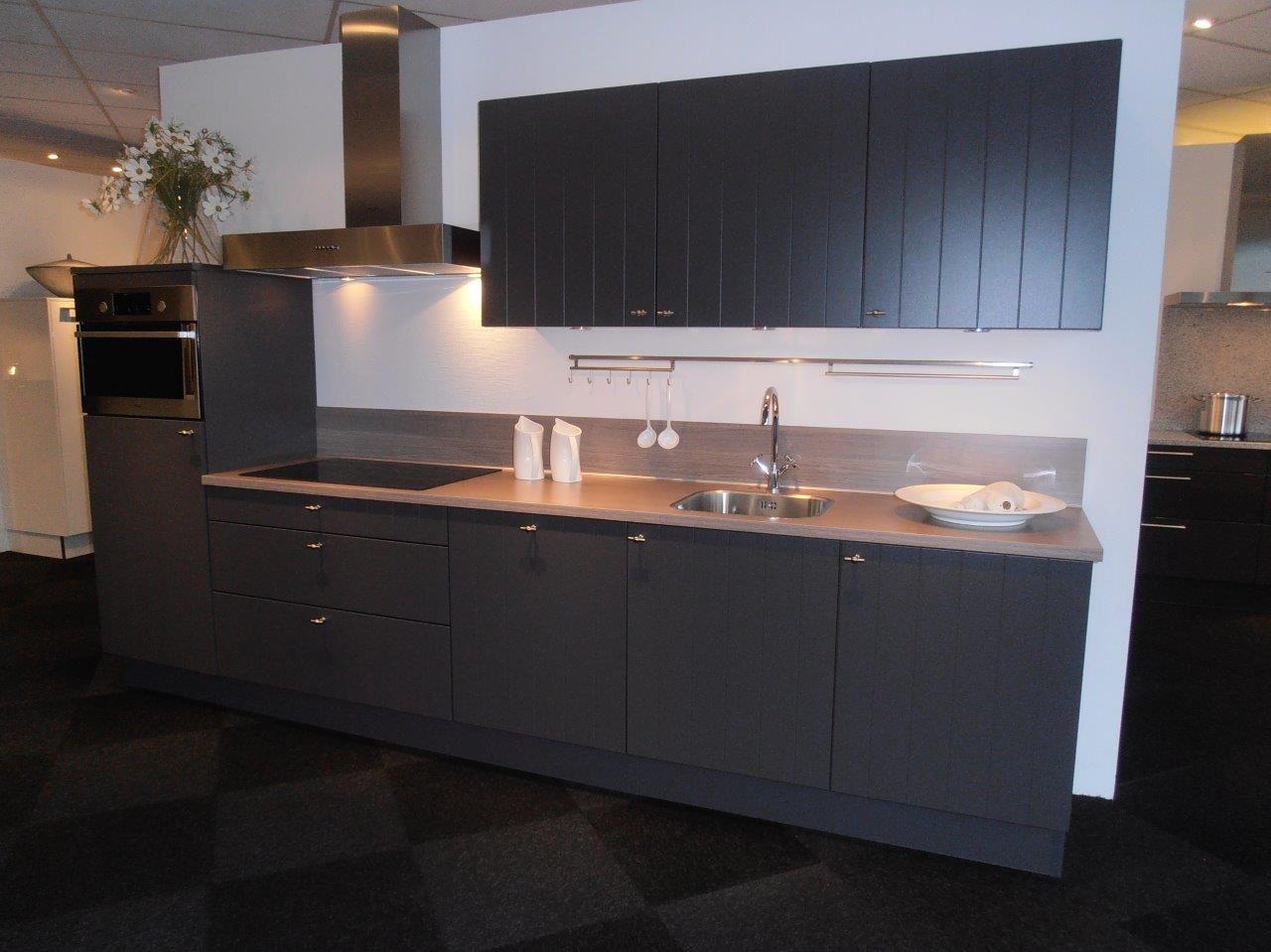 Landelijke Keuken Antraciet : van Nederland Rechte landelijke keuken in antraciet [50162