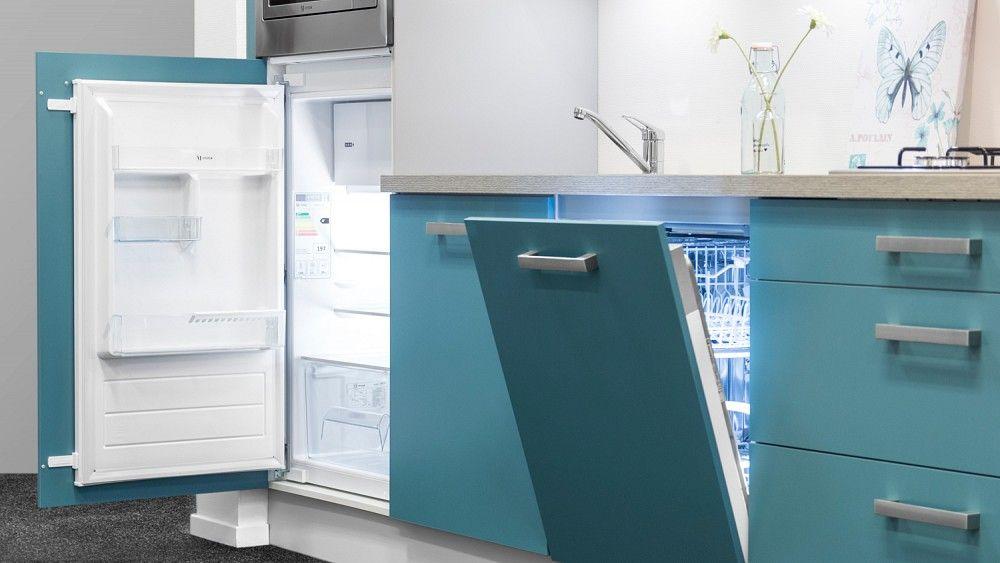 Allergrootste keukensite van nederland compacte keuken in staalblauw 54747 - Werkblad gelamineerd compact ...